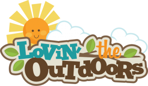 Lovin' The Outdoors SVG scrapbook title camping svg cut file camping svg scrapbook title