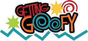 Getting Goofy SVG scrapbook title