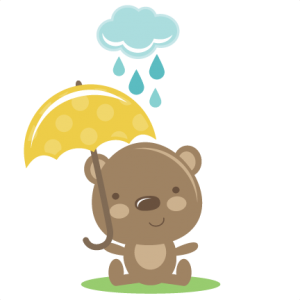 Rainy Day Bear SVG file for scrapbooking cutting machines free svg files free svgs free svg cuts