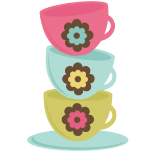 Stacked Teacups SVG cut files for scrapbooking teacup svg file teacup cut file for cutting machines