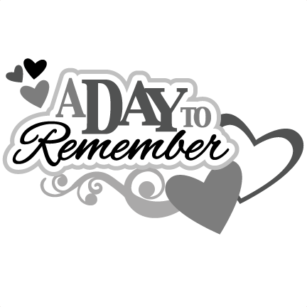 A Day To Remember SVG Scrapbook Title Wedding Svg Scrapbook Title Wedding Svg Files