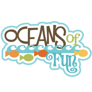 Oceans Of Fun SVG scrapbook title ocean svg files fish svg files beach svg cut files for cutting machines