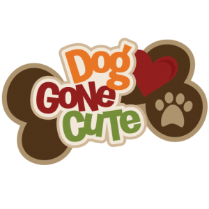 Dog Gone Cute SVG scrapbook title dog scrapbook title dog svg files for cutting machines