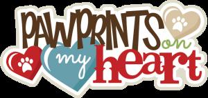 Pawprints On My Heart SVG scrapbook title puppy svg file puppy svg cut file dog svgs