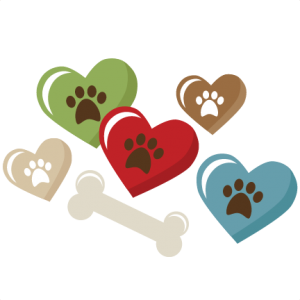 Heart Pawprints And Bone SVG scrapbook title puppy svg file puppy svg cut file dog svgs