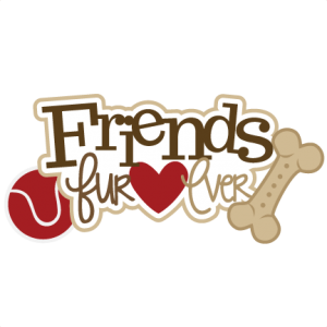 Friends Fur-ever SVG scrapbook title dog svg file dog svg cut file pet svg files puppy svg file
