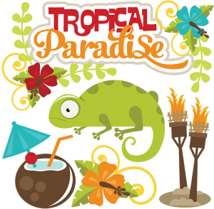 Tropical Paradise SVG scrapbook cuts lizard svg file tropcial svg files beach svg files svg cut files