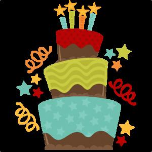 Chocolate Birthday Cake SVG cut file birthday cake svg file free cut files free svgs free svg cuts