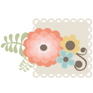 Flowers With Square Scallop SVG files for scrapbooking flower svg cut files background svg files