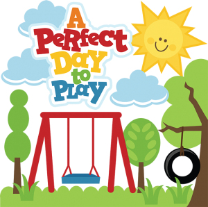 A Perfect Day To Play SVG files for scrapbooking swing set svg cut file sun svg file tire swing svg file
