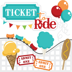 Ticket To Ride SVG files roller coaste svg file corn dog svg file ice cream cone svg file cotton candy svg file
