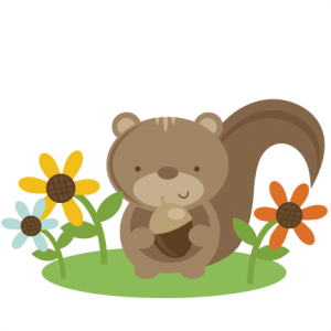 Squirrel In Flowers SVG file for scrapbooking cardmaking squirrel svg cut squirrel cut file free svgs