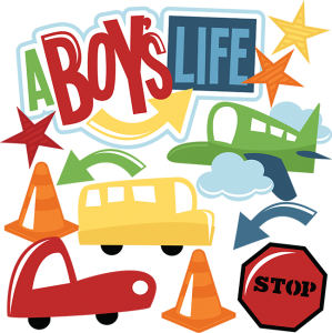 A Boy's Life SVG cut files airplane svg file bus svg file car svg file stop sign svg file for scrapbooking