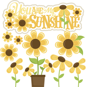 You Are My Sunshine SVG files sunflower svg cut file sunflower svg file for scrapbooking