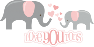 Love You Tons SVG files for scrapbooking elephant svg file baby svg file free svgs free svg cuts