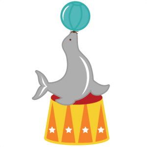 Circus Seal SVG files for scrapbooking circus svg file seal svg files for cutting machines free svgs