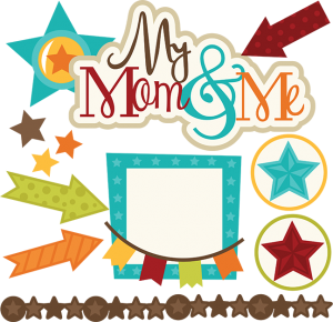 My Mom & Me SVG files for scrapbooking mom and son svg files stars svg cut files