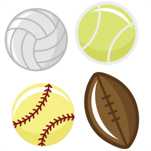 Sports Balls SVG files tennis ball svg file football svg file softball svg file volleyball svg cutting machines