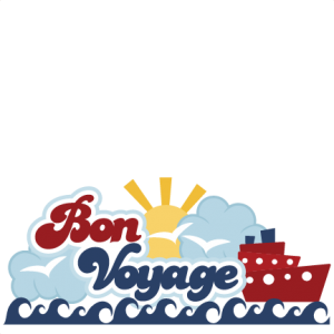 Bon Voyage SVG scrapbook title cruise svg scrapbook title cruise svg scrapbook files