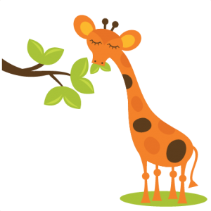 Giraffe Eating Leaves SVG scrapbook files free svgs free svg files giraffe svg cut files