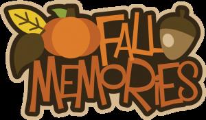 Fall Memories SVG scrapbook title fall svg files pumpkin svg file acorn svg file free svgs