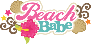 Beach Babe SVG scrapbook title beach svg cut file seashell svg files beach svg scrapbook title