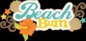 Beach Bum SVG scrapbook title beach svg cut file seashell svg files beach svg scrapbook title