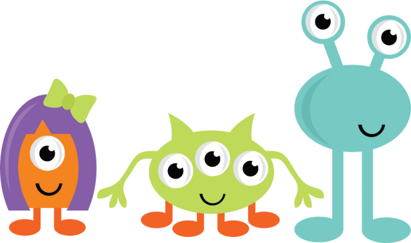 Cute Monsters Svg Cut Files For Scrapbooking Monster Svgs