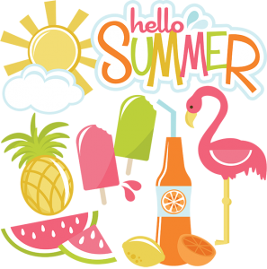 Hello Summer SVG files for cutting machines sun svg file cloud svg file summer svg cut files for scrapbooking