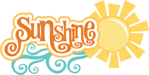 Sunshine SVG scrapbook title sun svg file summer svg files summer svg scrapbook title