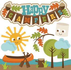 Happy Campers SVG cut files camping svg file canoe svg file marshmallow svg file free svgs