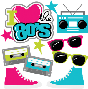I Heart The 80's SVG cut files for scrapbooking 80's svg files cassette tape svg file sneakers svg file