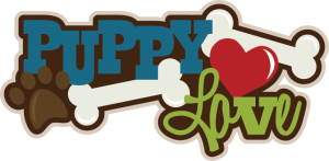 Puppy Love SVG scrapbook title puppy svg files puppy svg cut files for scrapbooking