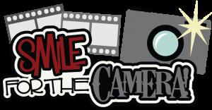 Smile For The Camera SVG scrapbook title camera svg file cute svg cut files free svgs