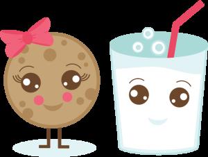 Milk & Cookie SVG cut file cute cookie svg file milk svg file cute svg cuts free svgs free svg cuts