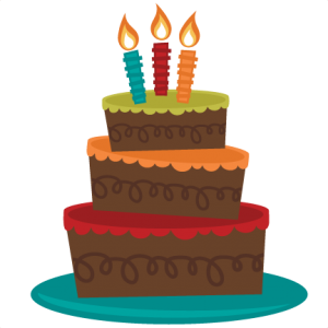 3 Tiered Birthday Cake SVG cut file for cutting machines birthday cake svg file for scrapbooking free svgs