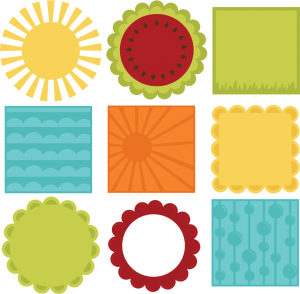 Summer 12 X 12 Background Shapes SVG files for scrapbooking summer svg files free svgs