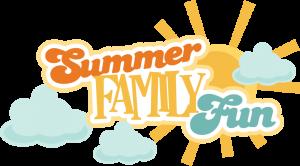 Summer Family Fun SVG scrapbook title summer svg files cloud svg files sun svg cuts