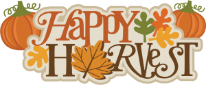 Happy Harvest SVG scrapbook title fall svg files pumpkin svg file autumn svg cuts
