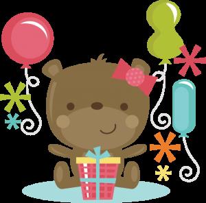 Birthday Bear Girl SVG cut files for scrapbooking birthday svg files free svgs svg cut files