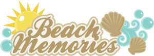Beach Memories SVG scrapbook title beach svg cut file seashell svg files beach svg scrapbook title