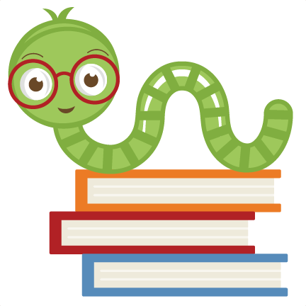 Cute Bookworm SVG cut file cute bookworm clipart free svgs ...