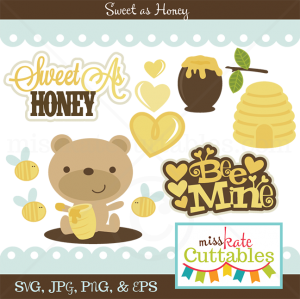 Sweet As Honey SVG bundle for scrapbooking cardmaking valentines svg files free svgs cute svg cuts