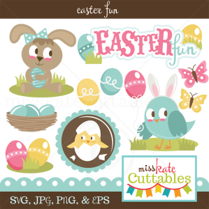 Easter Fun SVG scrapbook bundle easter svg files easter cut files easter svg files free svgs cute svg cuts