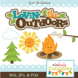 Lovin' The Outdoors SVG bundle camping svg cut file camping svg scrapbook title