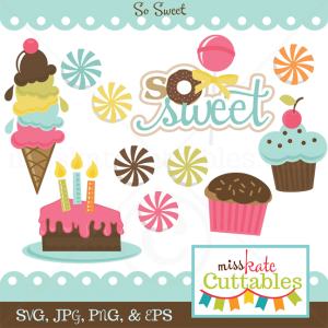So Sweet SVG scrapbook bundle free svgs for cards free svg files for scal cute svg cuts