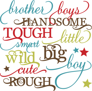 Boy Words Set SVG cutting files for scrapbooking paper crafts boy svg cuts free svgs