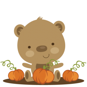 Bear In Pumpkin Patch SVG scrapbook file bear svg file cute bear svg file cute svg cuts free svgs free svg cut files