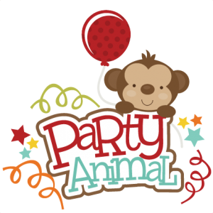 Party Animal SVG scrapbook title monkey svg cut file for cutting machines free scal files