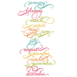 Months Of The Year SVG scut files name of months svg files for scrapbooking free svgs